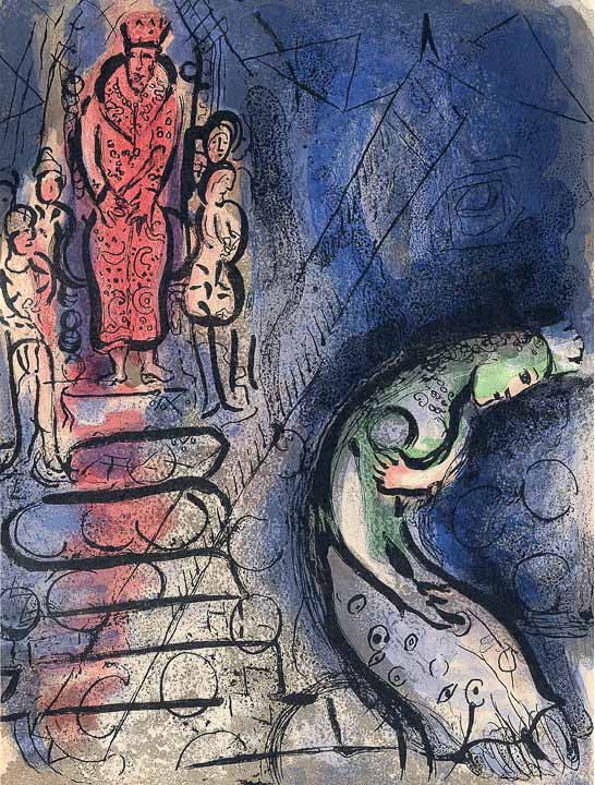 Marc Chagall - Ahasversus, Lithographie