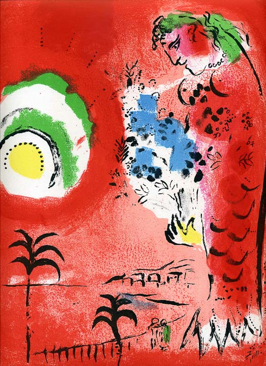 Marc Chagall - Baie-des-Anges, Lithographie