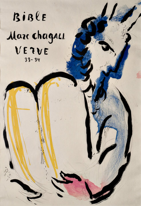 Marc Chagall - Verve Bibel Cover, Lithographie