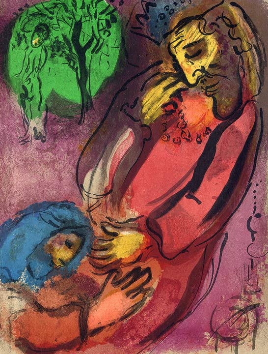 Marc Chagall - Bibel Lithographie
