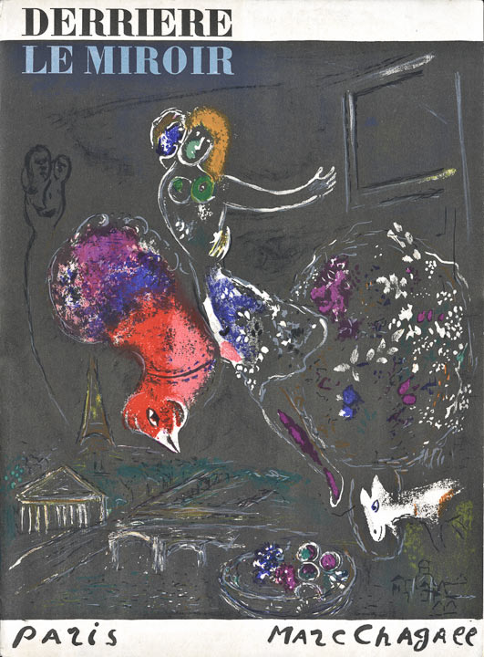 Marc Chagall - Nacht-in-Paris, Lithographie