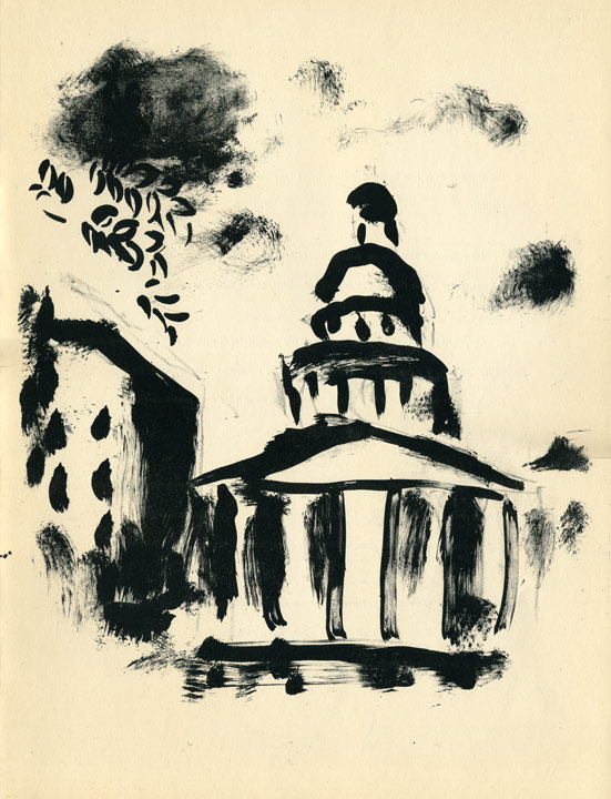 Marc Chagall - Pantheon, Lithographie