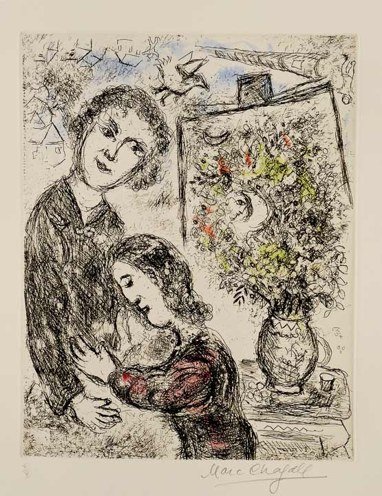 Marc Chagall - Tendresse, Radierung